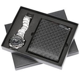 $enCountryForm.capitalKeyWord Australia - Mens Watch Steel Bangle Wristwatch Quartz Wallet Gift Set for Boyfriend Birthday Gift for Father reloj masculino Luxury Watches