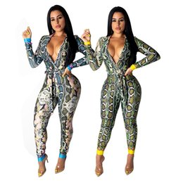 $enCountryForm.capitalKeyWord NZ - Sexy Women's Deep V Neck Jumpsuits & Rompers,Beauty Digital Printing Jumpsuits,Two Colours Five Size,Autumn Wear