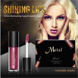 $enCountryForm.capitalKeyWord Australia - Niceface 6 Color Sexy Lime Moisturizing Metallic Shimmer Chameleon Glitter Matte Nude Liquid Lipstick Makeup Lip Stain
