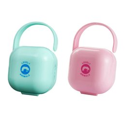 China 1Pcs Baby Care Pacifier Holder Storage Cases Portable New Infant Pacifier Nipples Holder Box Clean Carrying Container cheap pacifier case suppliers