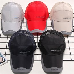 Snapback camp cap online shopping - Net Cap Outdoor Sports Snapback Baseball Sunscreen Hats Lovers Couple Colors Mix Ventilation Camping Wear Resistant jtf1