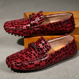 Popular Casual Shoes For Men Australia - Popular Loafers Footwear For Men Comfortable Flats Shoes Mens Wine Red Slip On Casual Sneakers Soft Bottom Driving Moccasin Man