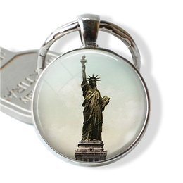 cute girls photo UK - Statue of Liberty Keychain, New York Pendant, USA Tourist Souvenir, Cute Gifts ( Buy One Get One Free )