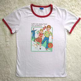 be022e8be Graphic Tees Short Sleeved Summer Cotton Vintage Printed Humor Shirts Plus  Size Tumblr Tops Harajuku Kawail T Shirt Women Q190507