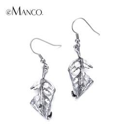 $enCountryForm.capitalKeyWord NZ - hanging earrings for women eManco Vintage Leaf Skeleton Dangle Earrings for Women Ethnic Antique Silver Plated Earring Fashion Jewelry