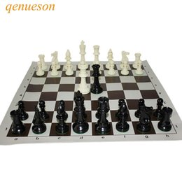 queen games Australia - International Standard Chess Game Set Competition King 97mm Large Plastic Chess Set with Chessboard 4 queen Board Games qenueson SH190907