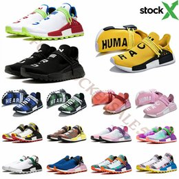 Men size 47 running shoes online shopping - Stock X New NMD Human Race Designer Running Shoes For Men Women Pharrell Williams Trainer Sports Sneakers des chaussures Size