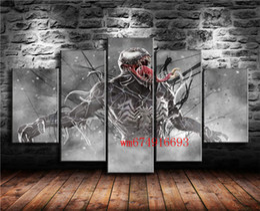 $enCountryForm.capitalKeyWord NZ - Venom Marvel Comics , 5 Pieces Home Decor HD Printed Modern Art Painting on Canvas (Unframed Framed)