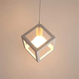 $enCountryForm.capitalKeyWord Australia - Creative Vintage Industrial Cube Pendant Lighting for Kitchen Island Modern Square Hanging Light Fixture with Black Oil Finish