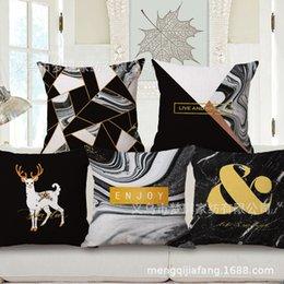 $enCountryForm.capitalKeyWord Australia - Mengqi New Pattern Pillow Geometry Embrace Pillow Case Fashion Concise Back Cushion Cushion Cotton Pillow Factory