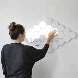 Опт Квантовые лампы Touch Wall светодиодные шестиугольные светильники модульные чувствительные к прикосновению ночные светильники магнитные шестиугольники креативные украшения настенные светильники
