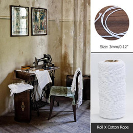 wrap cords Australia - 100m roll Retro Natural Rope Jute Twine Burlap String Wrapping Cords Thread Tying Thread Macrame Cord Rope