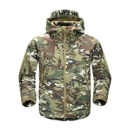 shark skin tad jacket Canada - TAD V4.0 Camouflage Jacket Lurker Shark Skin Soft Shell Tactical Waterproof Windproof Sports Jacket Hunting Gear Multicam