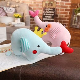 Chinese  Creative new couple crown love like plush toy elephant doll cute trumpet doll female birthday gift manufacturers