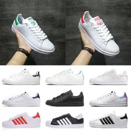 army green casual shoes 2020 - hot fashion Leahther Stan Smith shoes men women Superstars platform casual shoes classic red green blue laser pink outdo