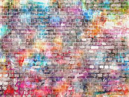 graffiti backdrops NZ - Colored Brick Wall Vinyl Photography Backdrops Graffiti Newborn Baby Photo Booth Backgrounds for Children Birthday Party Studio Props