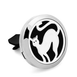 Mini Cat Cars UK - Car Mini Vent Clip Air Freshener Essential Oil Diffuser 316L Stainless Steel Locket 1Pads cat
