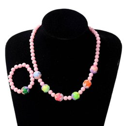 $enCountryForm.capitalKeyWord Australia - .Necklace Bracelet Children Jewelry Sets Candy Colors Round Beads Party Accessories Birthday Gifts