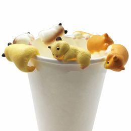 Toy Squirrels Australia - Cute Animals Squirrel Shape Toys Doll For Mug Cup Tea Bag Holder Cup Mug Hanging Mug Cup Tea Bag Holder Hanging