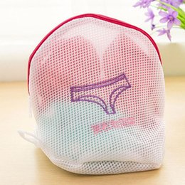 cleaning washing machines Canada - 15.5*16CM Underpants Washing Care Laundry Bags Washing Machine Clothes Laundry Mesh Bag Padded Washing Bag Mesh Net Wash Pouch DH0959-1