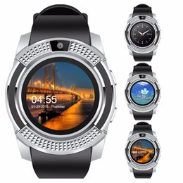 quad band smart watch NZ - V8 Bluetooth Smart Watch 1.22 inch IPS Screen SIM Card GSM Quad-band Phone Call Notification With Camera Smartwatch