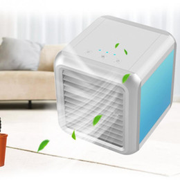 $enCountryForm.capitalKeyWord Australia - Hot Portable Mini USB Air Conditioner Air Cooler Humidifier Purifier 7 Colors LED Light Desktop Cooling Fan Cooler