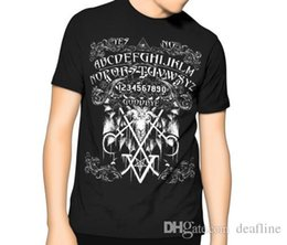 Gothic Style Clothes Australia - 2018 Summer Style New! Ouija Board T Shirt Black Kill Occult Pentagram Gothic Sigil of Lucifer New Arrivals Casual Clothing