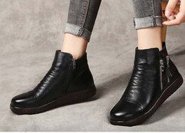 ankle chain pumps UK - 2019 Latest Women Leather Flat Boots Classic Jumble Ankle Boot Lady Casual Shoes in Clafskin High heel Pumps with Box Size:35-40 JK87