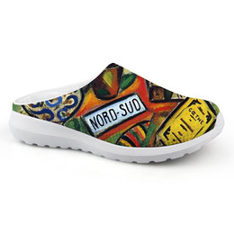 $enCountryForm.capitalKeyWord Australia - 2019 Flat Sandals Female Casual Comfortable Shoes Women Flats Summer Sandalias Artist Painting Print Of Joan Miro Master Pieces