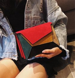 $enCountryForm.capitalKeyWord Australia - Matte Patchwork Crossbody Bags For Women Messenger Bags Chain Strap Shoulder Bag Lady Small Flap Criss-cross Bag