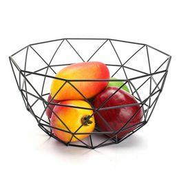 $enCountryForm.capitalKeyWord UK - Iron Tray Basket Storage Box Fruits Vegetable Food Snack Kitchen Black Metal Iron Rack Classic Design