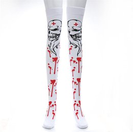 $enCountryForm.capitalKeyWord UK - Halloween Nurse Scary Socks Bloody Ghost Cosplay Costume Accessories Sexy Free Size Stagewear Socks