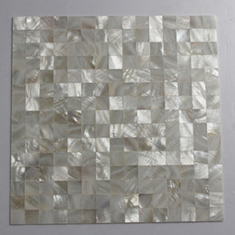 white pearl mesh Canada - 20x20mm white color Mother Of Pearl shell mosaic , seamless tile mesh backer Bathroom wall tile #MS123
