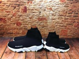 Balenciaga Chaussures pour enfants de détail grands enfants Bottes vitesse extensible maille chaussures de course sport garçons de jeunes enfants chaussures de basket-ball Sneaker en Solde