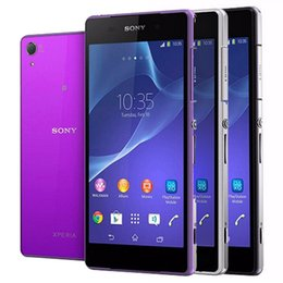 purple cellphone Australia - Refurbished Original Sony Z2 D6503 5.2 inch Quad Core 3GB RAM 16GB ROM 20.7MP Camera 4G LTE Android Smart Mobile Phone Free DHL 5pcs