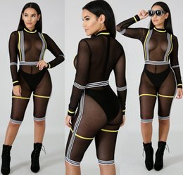 China Fashion Mesh Stitching Pattern Jumpsuit Women Nightclub Style Shiny Hot Drilling Perspective Sexy Jumpsuit For Women 2019 supplier jumpsuits for women patterns suppliers