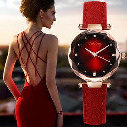 Luxury Crystal Women Quartz Watch Australia - New Womens Watches Luxury Dress Relojes Crystal Gogoey Women Elegant Quartz Wristwatch Mujer Pu Leather Watch Feminino Relogio T190619