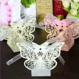 $enCountryForm.capitalKeyWord Australia - Butterfly Laser Cut Hollow Carriage Favors Box Gifts Candy Boxes With Ribbon Baby Shower Wedding Event Party Supplies