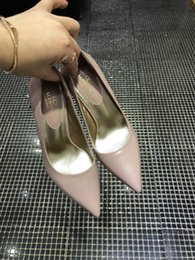 Genuine Lambskin Leather NZ - Quality 2019 Free shipping Luxury women lambskin Brand genuine leather point toe high heels cone heel shoes sandals Size 35-41