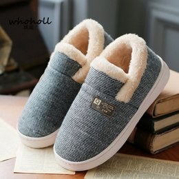purple house shoes Australia - WHOHOLL Women Winter Warm Fur Slippers men Slippers Cotton Sheep Lovers Home Slippers Indoor Plush Size House Shoes Woman T191018