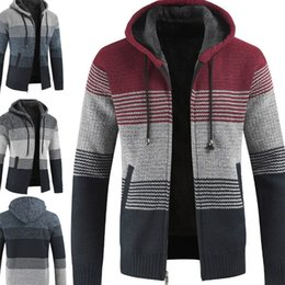 $enCountryForm.capitalKeyWord Australia - Men Warm Streetwear Top Coats Hooded Long Sleeve Sweater Knitted Cardigan Fashion Jacket Sweaters Plus Size M-3XL