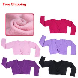 $enCountryForm.capitalKeyWord NZ - New Autumn Winter Cotton Long Sleeve Thick Warm Shawl Coat Girls Kids Children Ballet Dance Short Jacket High Waist Outwear