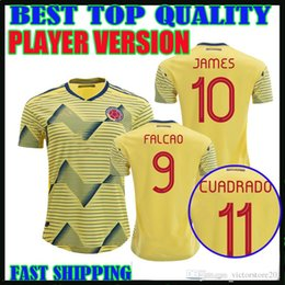 falcao jersey colombia NZ - player version Colombia 2019 soccer jersey home james falcao Copa America 19 20 Colombia Camiseta CUADRADO football shirts thailand quality