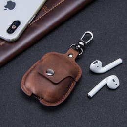 Handbag for ipHone mini online shopping - Designer Handbags Protective Case for IPhone Airpods IPhone X Wireless Headset Anti drop Real Leather Protective Cover Bag