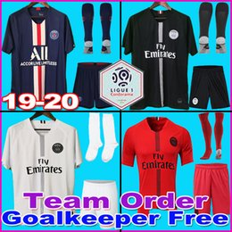 Wholesale AIR JORDAN PSG 18 19 20 camisas de futebol 2019 2020 Paris saint germain camisa NEYMAR JR MBAPPE jersey Survetement futebol kit camisa de futebol mulheres Goleiro adulto
