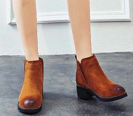 ankle chain pumps UK - 2019 Latest Women Leather Flat Boots Classic Jumble Ankle Boot Lady Casual Shoes in Clafskin High heel Pumps with Box Size:35-40 JK95