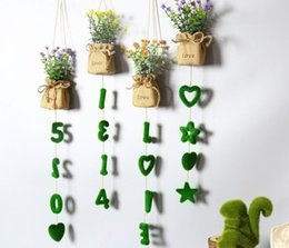 $enCountryForm.capitalKeyWord Canada - Home Potted Letters Decorative DIY Artificial Grass Hanging Plant Hawaiian Party Decor Artifical Grass Flower Wall Hanging Decoration