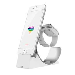 Ursprüngliche Basis Iphone Aufladen für Apple Watch Stand Dock Station Tischladestation Handyhalter J190507