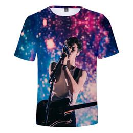 Pop Tees Australia - 3D Shawn Mendes DJ Singer T Shirt Women Men Harajuku Streetwear Tee Shirt Sweat Hip Pop Tops