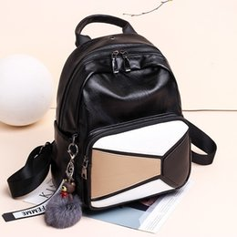 $enCountryForm.capitalKeyWord Australia - Free2019 Shoulders Both Bag Package Woman Leisure Time All-match Hit Color Pu Soft Leather Backpack Personality Concise